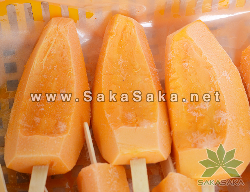 Frozen Papaya Half-cut